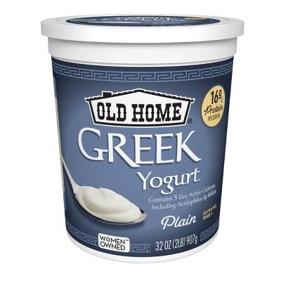 Old Home Greek Plain Yogurt - 32oz