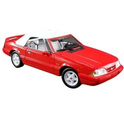 1992 Ford Mustang LX 5.0L Convertible Feature Car Vibrant Red Ltd Ed to 504 pcs Worldwide 1/18 Diecast Model Car by GMP