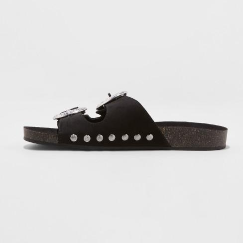 f9b1a80a6392 Women s Bari Two Band Western Buckle Sandals - Universal Thread™   Target