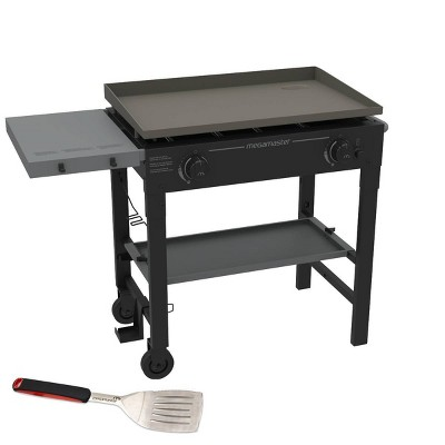 Megamaster 720-0785ASP 2 Burner Griddle Grill with Stainless Steel Spatula