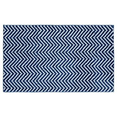 "21""x34"" Palazzo Bath Rug Blue Seafoam/White - Garland Rug"