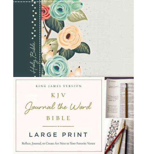 KJV Journal the Word Bible : King James Version, Deep Teal Floral, Reflect, Journal, or Create Art Next - image 1 of 1