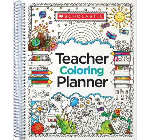 Teacher Coloring Planner (Paperback) - image 1 of 1