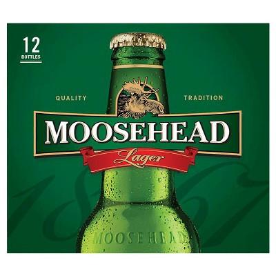 Moosehead Lager Beer - 12pk/12 fl oz Bottles