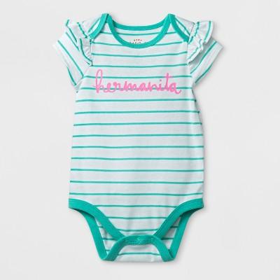Baby Girls' Hermanita - Cat & Jack™ White/Aqua 3-6M