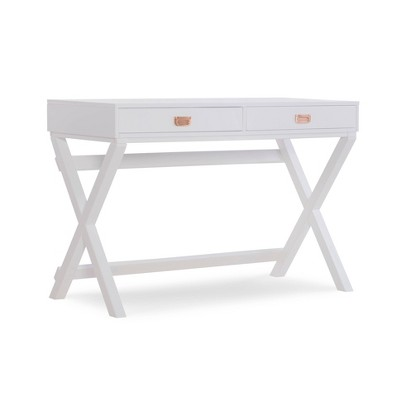Peggy Wood Writing Desk with Drawers - Linon