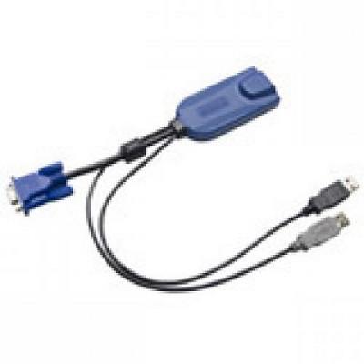 Raritan Dominion KX II KVM Cable - HD-15 Male Video, Type A Male USB - RJ-45 Female Network