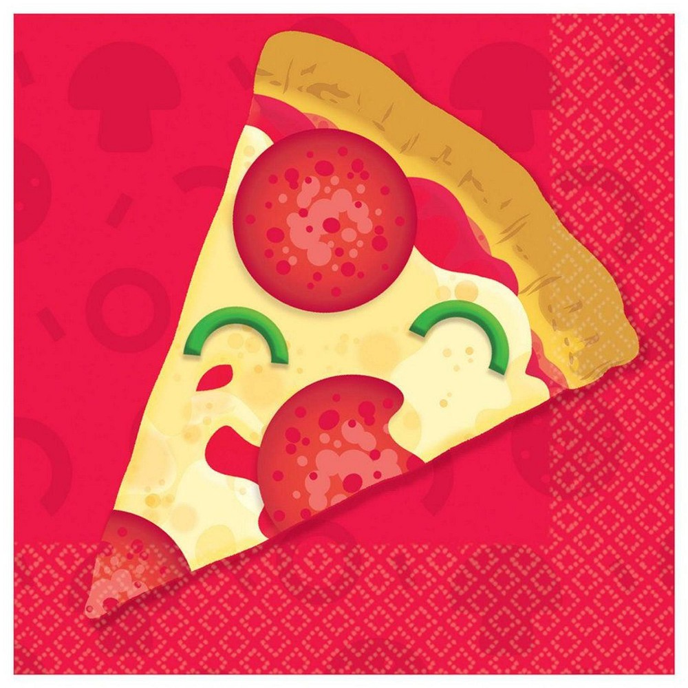 Image of 16ct Pizza Party Beverage Napkins