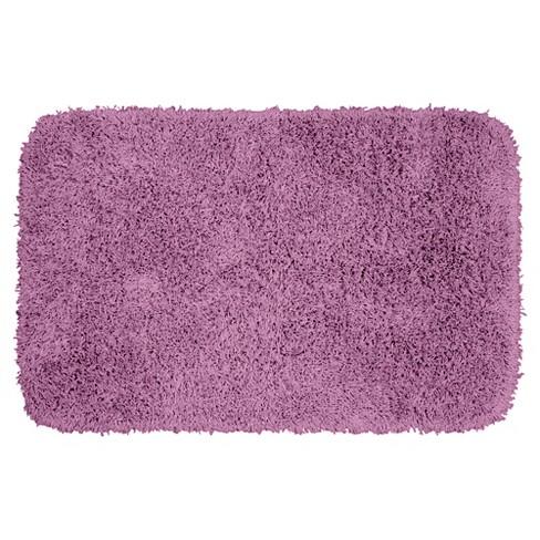 . Jazz Shaggy Solid Washable Nylon Bath Rug  24 x40   Purple   Garland Rug