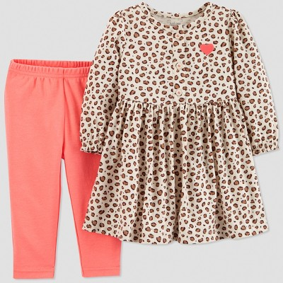 Baby Girls' 2pc Leopard Set - Just One You® made by carter's Peach Newborn