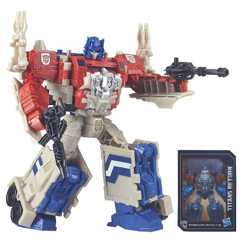Transformers Generations Titans Return Leader Class Powermaster Optimus Prime and Autobot Apex - image 1 of 15