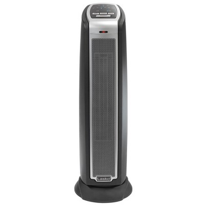 Lasko 5790 Portable Electric 1500 Watt Room Oscillating Ceramic Tower Space Heater with Remote, Adjustable Thermostat, Electronic Controls, and Timer