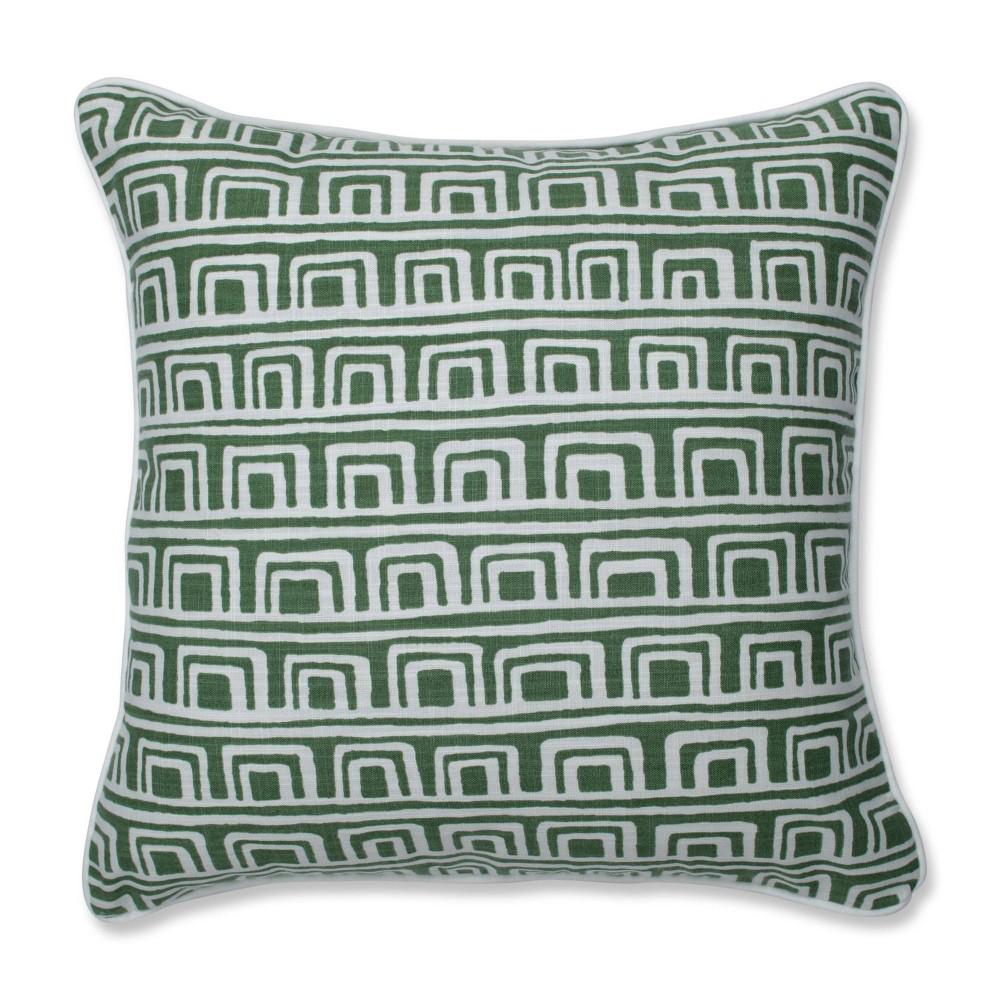 Mini Squares Grass Square Throw Pillow Green Pillow Perfect