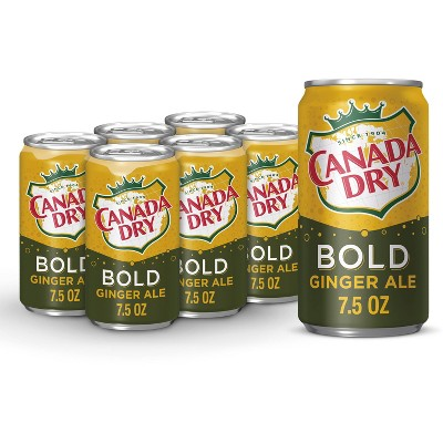 Canada Dry Ginger Ale Bold Soda - 6pk/7.5 fl oz Mini Cans