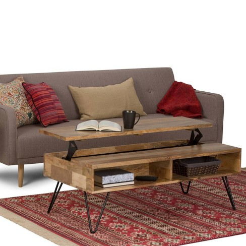 09449a8bcc8eb Moreno Solid Mango Wood Coffee Table Natural - Wyndenhall   Target
