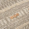 Stripe Poly Filled Square Pillow Natural - Rizzy Home - image 2 of 4