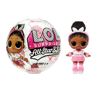 L.O.L. Surprise! All-Star B.B.s Sports Series 3 Soccer Team Sparkly Dolls with 8 Surprises