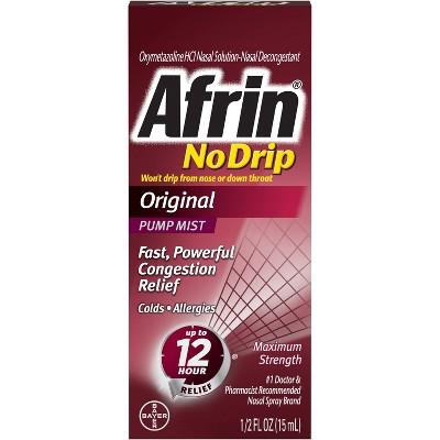 Afrin No Drip Original Nasal Spray - 0.5 fl oz
