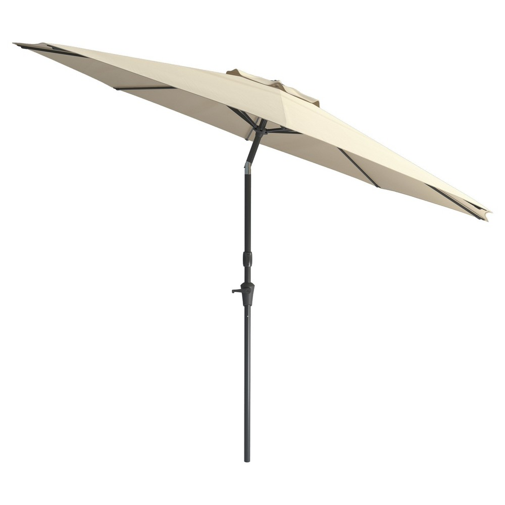 Image of 7' Wind Resistant Tilting Patio Umbrella - Warm White - CorLiving