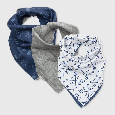 Honest Baby Boys' 3pk Organic Cotton Compass Bandana Bib