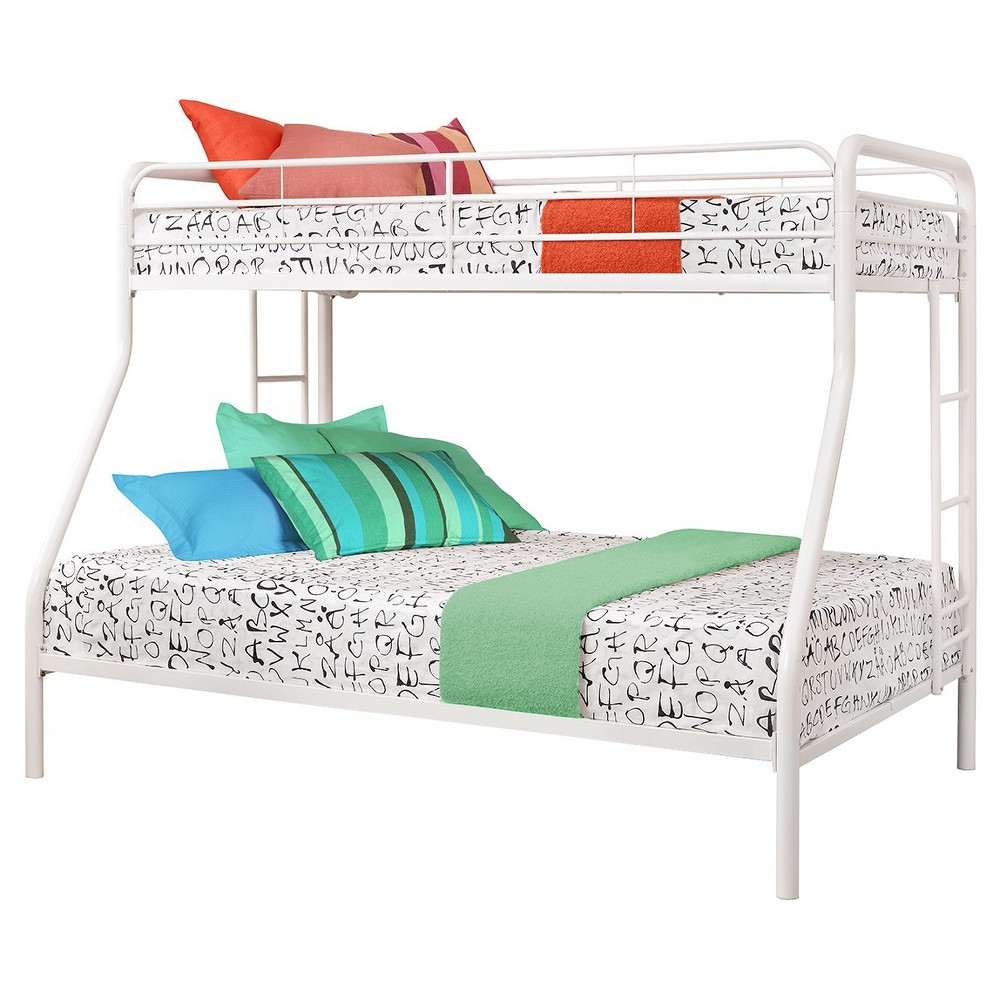 Catalina Twin over Full Metal Bunk Bed White - Room & Joy