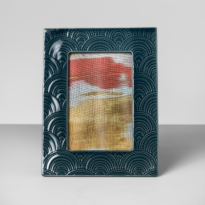 Embossed Ceramic Frame Teal 4  x 6  - Opalhouse™