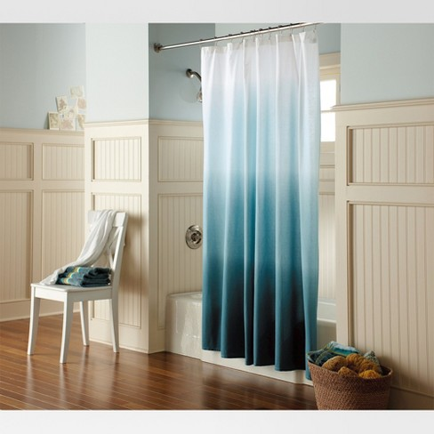 Ombre Shower Curtain Teal