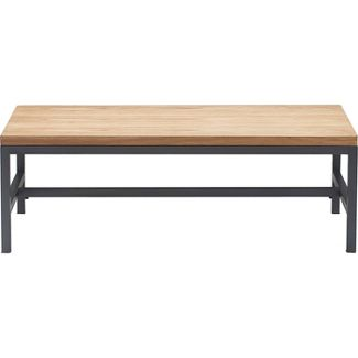 Dobson Natural Wood and Black Metal Coffee Table Natural - Finch
