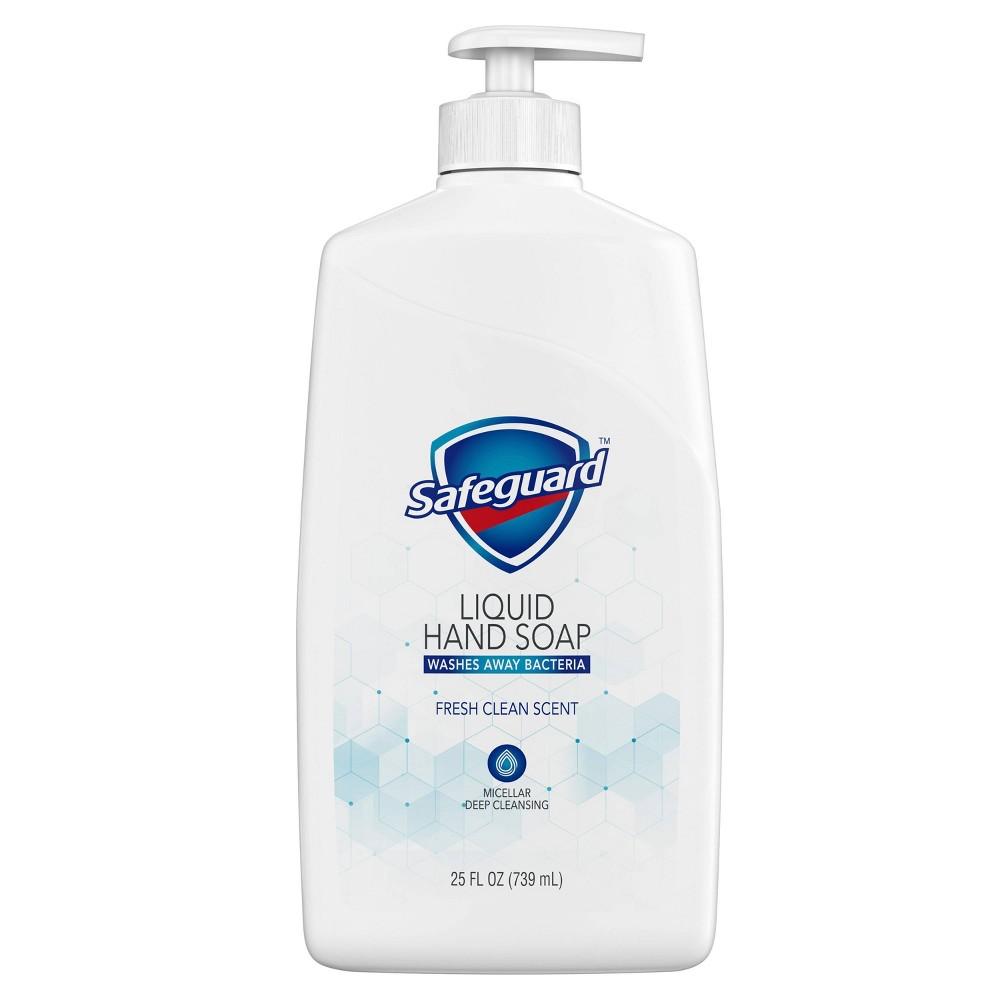 Safeguard Liquid Hand Soap Micellar Deep Cleansing Fresh Clean Scent 25 Fl Oz