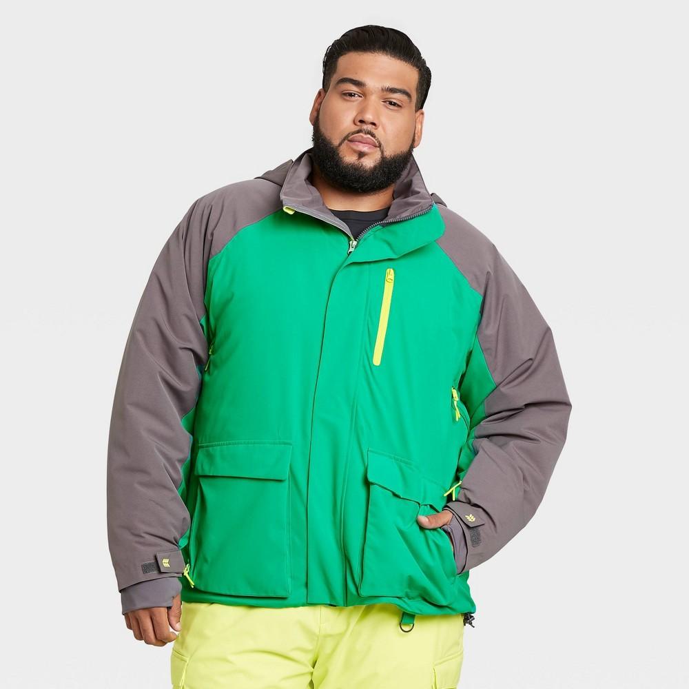 Men 39 S Snow Sport Waterproof Jacket All In Motion 8482 Green Xxl
