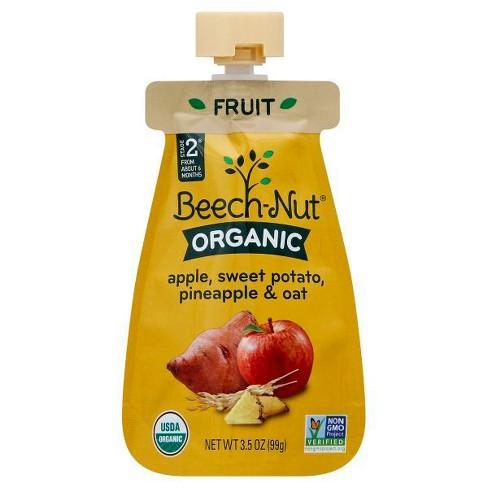 Beech Nut Organic Pouch Apple Sweet Potato Pineapple Oat 35oz