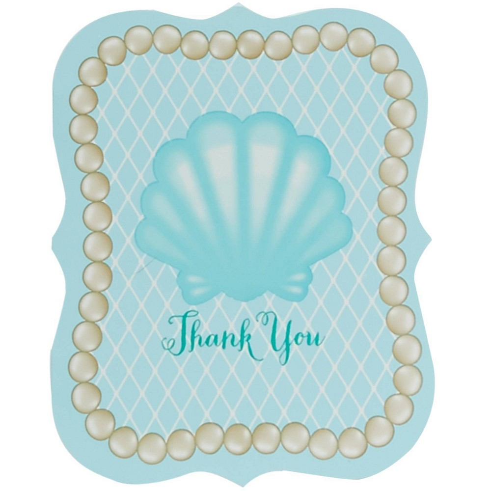 8ct Mermaids Under the Sea Thank You Notes, Multi-Colored