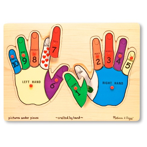 Melissa & Doug® Hands Counting Wooden Peg Puzzle (12pc) - image 1 of 1