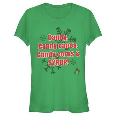Junior's Elf Main Food Groups T-Shirt