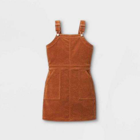 Girls' Corduroy Pinafore Dress - art class™ Tan - image 1 of 2