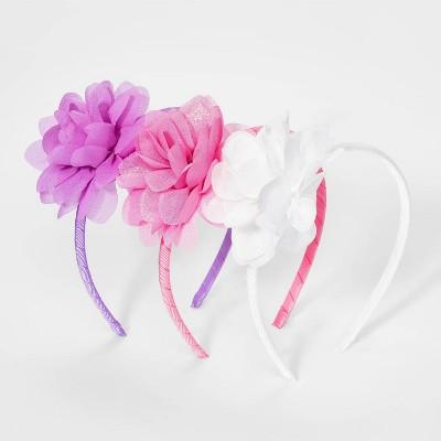 Girls' 3pk Chiffon Flower Headband - Cat & Jack™