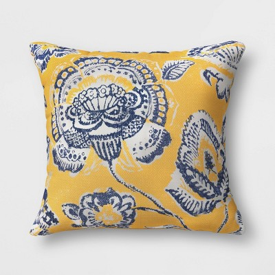 Floral Outdoor Oversize Throw Pillow Yellow - Threshold™