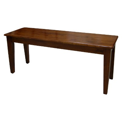 Shaker Dining Bench Wood/Brown - Boraam
