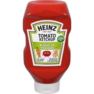Ketchup: Heinz with a Blend of Veggies