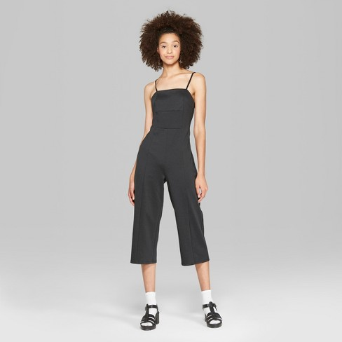 b8a762c42b03 Women s Strappy Knit Jumpsuit - Wild Fable™ Black XS   Target