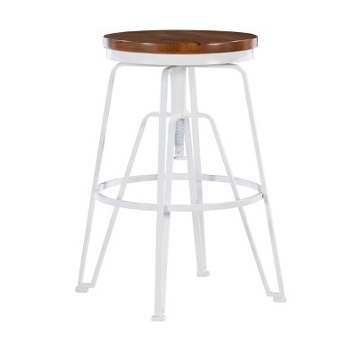 Metal and Wood Stools - Linon