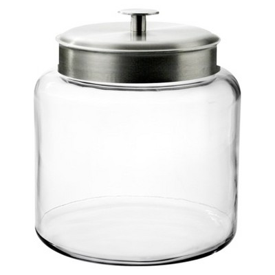 Montana Glass Jar with Silver Lid - 1.5 gal.