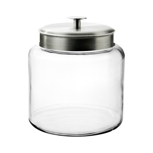 Montana Glass Jar with Silver Lid - 1.5 gal. - image 1 of 1