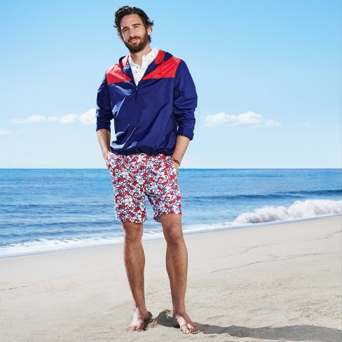 f067c6f336 Men's Hibiscus Whale Swim Trunks - Red/Navy - vineyard vines® for Target.  Shop all vineyard vines for Target