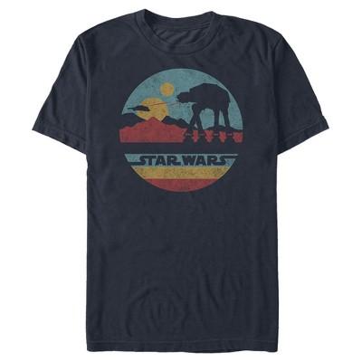 Men's Star Wars AT-AT Retro Circle T-Shirt