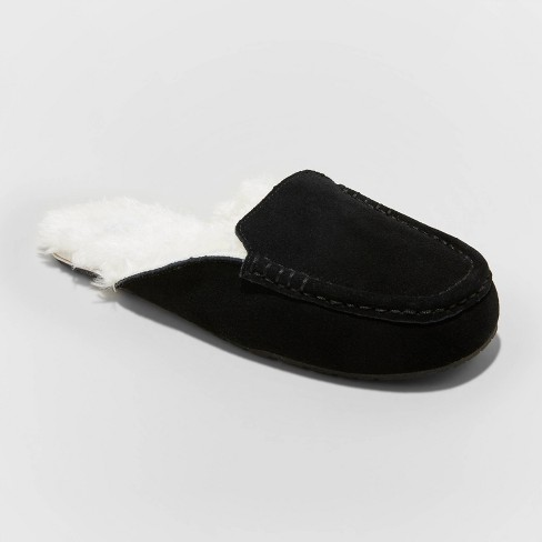 Women's Shae Moccasin Mule Slippers - Stars Above™ Black - image 1 of 4