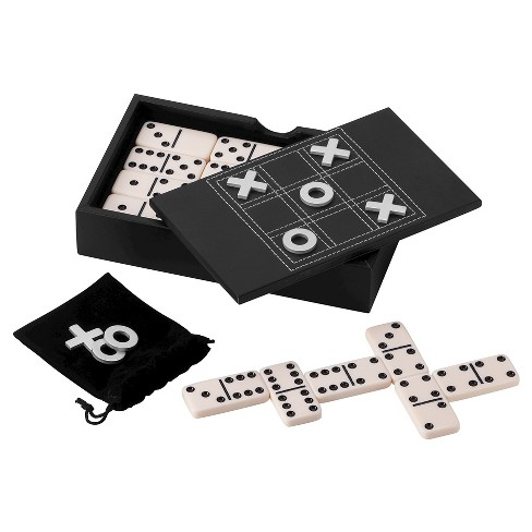 Domino and Tic-Tac-Toe Game Set with Storage Case - image 1 of 3