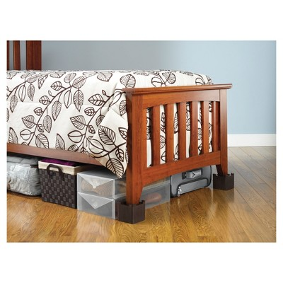 Whitmor Wood Bed Risers   Set Of 4   Espresso : Target