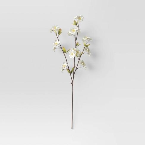 "28"" Artificial Cherry Blossom Stem White - Threshold™ - image 1 of 3"