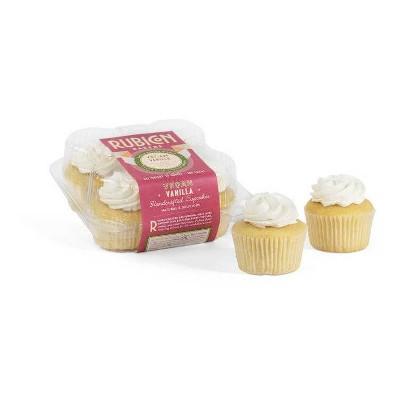Rubicon Bakery Frozen Vegan Vanilla Cupcakes - 10oz/4ct